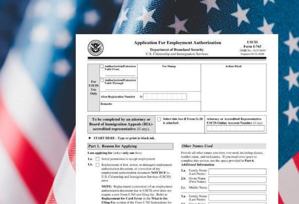 Петиция I-765 для получения разрешения на работу в США